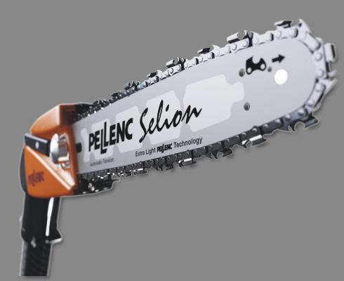 Motosega elettrica pellenc su asta fissa selion p180 for Motosega fissa