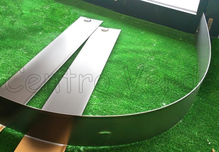 20 ml di bordura in alluminio easyline da 10 cm di altezza for Bordura giardino