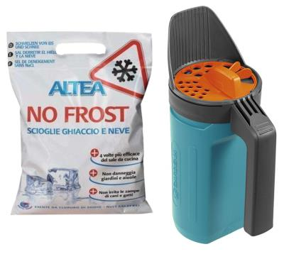 Kit sale antighiaccio No Frost ALTEA da 5 Kg + Spargisale S1 Gardena