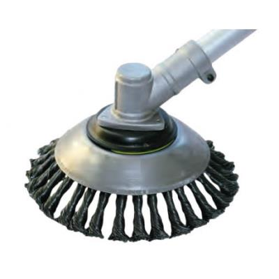 spazzola conica a treccia spazzola per erbe selvatiche Spazzola per erbe infestanti professionale per decespugliatori diametro del pavimento: 200 x 25,4 mm