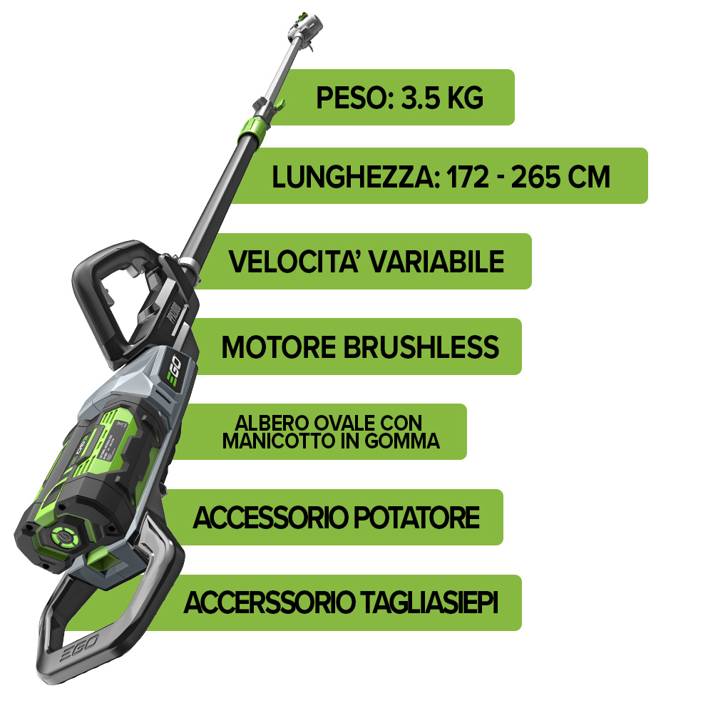 caratteristiche multitool a batteria PPX1000 egopower+