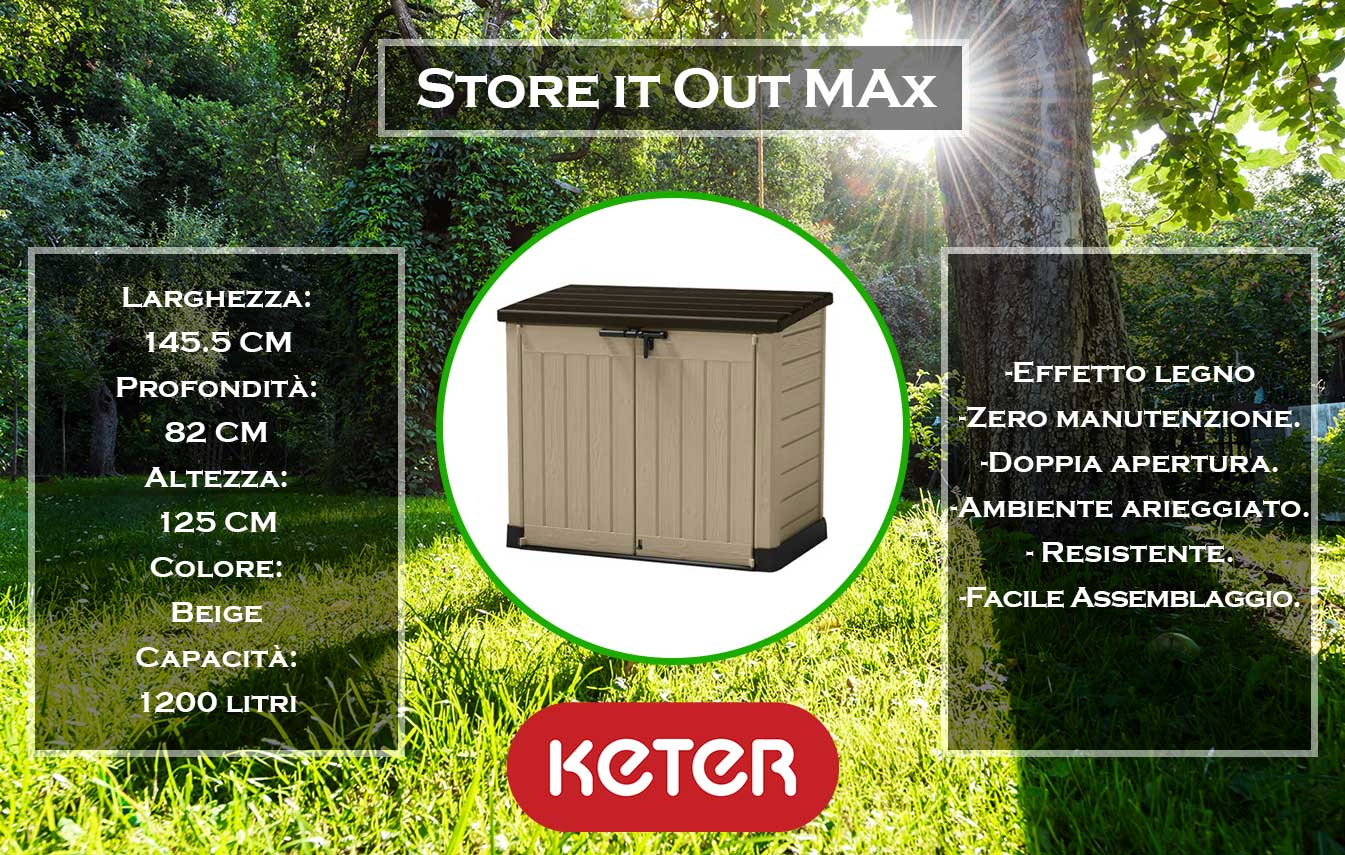 caratteristiche e dimensioni box store it out max di keter