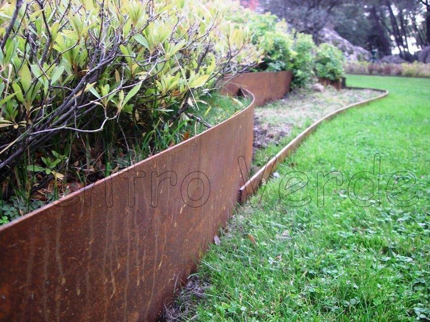 20 ml di bordura in acciaio corten da 10 cm di altezza for Bordura giardino